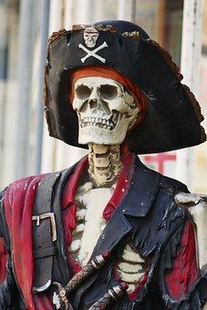 Skeleton, Pirate, Skull, Symbol, Bone, Danger, Head
