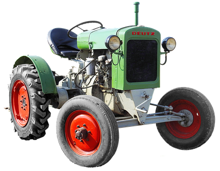 Isolated, Deutz, Tug, Agricultural Machine, Tractor