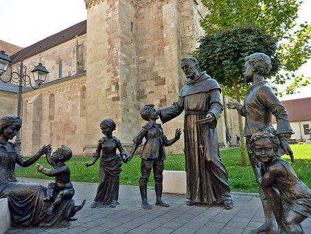 Priest, Children, Kids, Middle Ages, Medieval, Statue