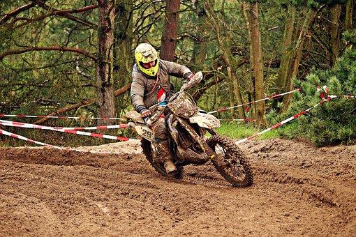 Motorcycle, Enduro, Terrain Machine, Motorsport