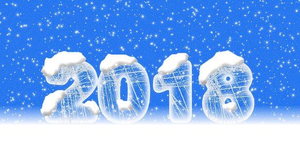Number, 2018, Frozen, Logo, Snow, Computer Graphics
