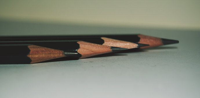 Pencil, Close, Pen, Office Accessories, Stationery