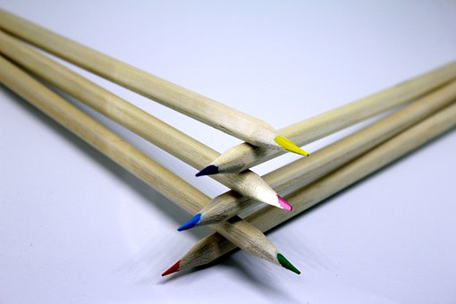 Pencil, Colour, Draw, Creative, Office, Wooden, Artist
