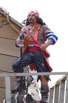 Pirate, Sailor, Captain, Ship, Sea, Hat, Adventure
