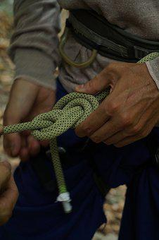 Mountaineering, Knot, Climb, Secure, Security, Rope