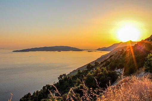 Sunset, Dalmatia, Pelješac, Croatia, Sea, Sky, Summer