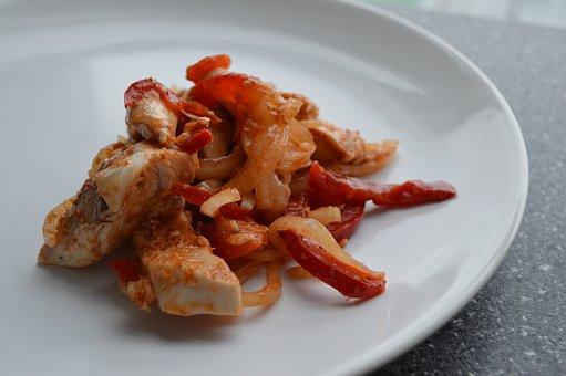 Korean Red Chicken, Spicy, Chicken, Korean, Food, Red