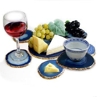 Cheese Set, Agate, Coasters, Stone, Geode, Crystal