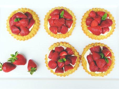 Strawberry Shortcake, Strawberries, Dough, Fruits