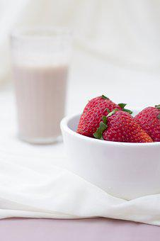 Strawberry, Smoothie, Drink, Fruit, Food