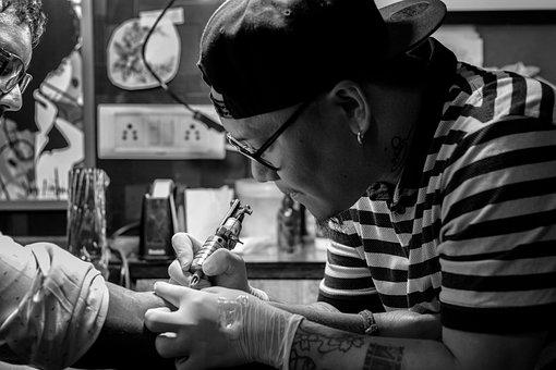 Artist, Tattoo, Creative, Tattooist, Tattooing, Machine