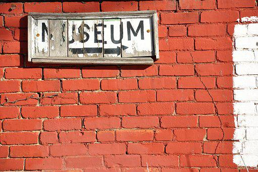 Museum, Wall, Sign, Blank, Frame, White, Exhibition
