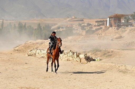 Ride, Desert, Reiter, Afghanistan, Boy, Horse