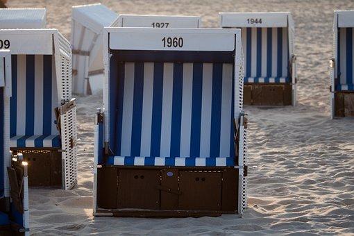 Clubs, Holiday, North Sea, Beach Chair, Beach, Sand