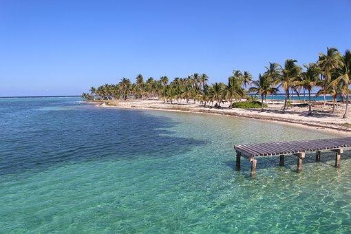 Belize, Caribbean, Half Moon Key, Beach, Sea