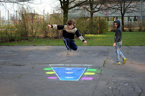 Jump Into The Distance, Game, City, Children