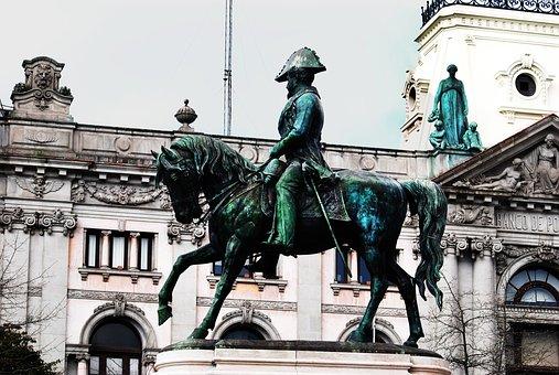 Monument, Statue, Sculpture, Soldier, City, Horse