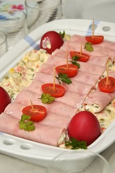 Easter, Egg, Spring, Easter Eggs, Food, Cold Plate, Ham