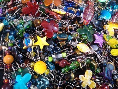 Pin, Color, Icon, Design, Set, Colorful, Pushpin, Push