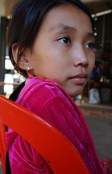 Cambodia, Village, Countryside, Kid, Child, Volunteer