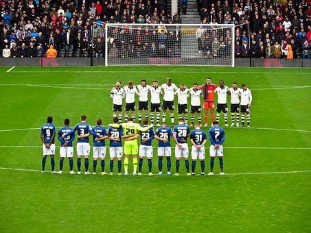 Football, Minute's Silence, Craven Cottage, London