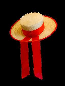 Hat, Straw Hat, Isolated, Headwear, Venice, Gondolier