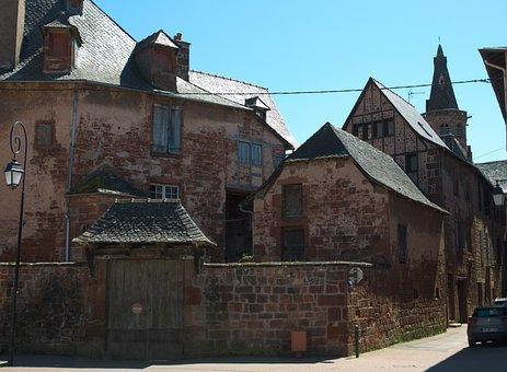 Marcillac, Aveyron, House, Street, Old House