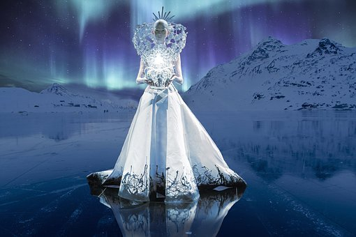 Queen, Ice, Northern Lights, Light, North Pole