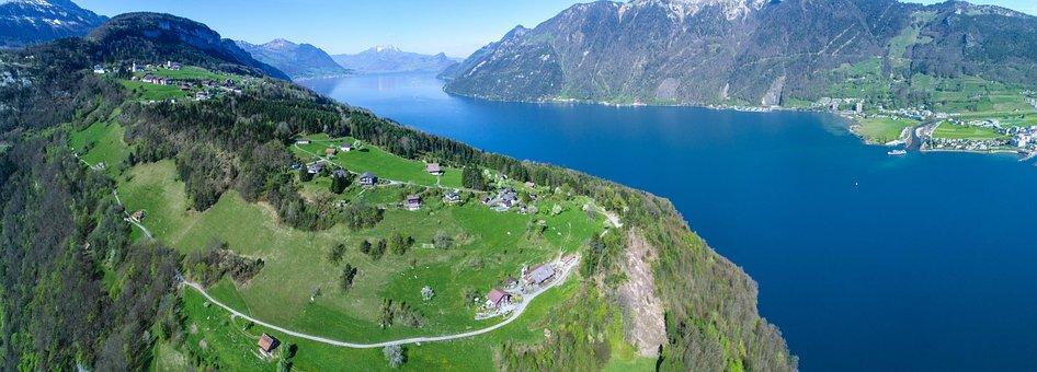Lake Lucerne Region, Lucerne, Mountains, Panorama