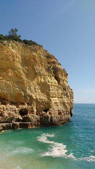 Falésia, Costa, Mar, Praia, Vale, Centeanes, Algarve