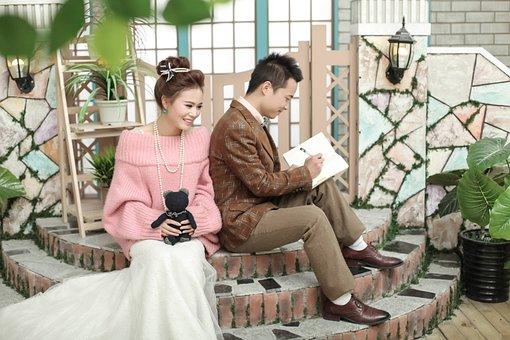 Marry, Wedding, Sample, Dress, Studio