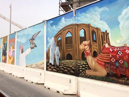 Qatar, City, Murals