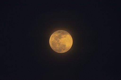 Moon, Full Moon, Night Sky, Night, Moonlight