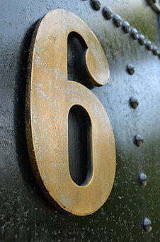 Number, Old, Metal, Weathered, Surface, Texture, Rust