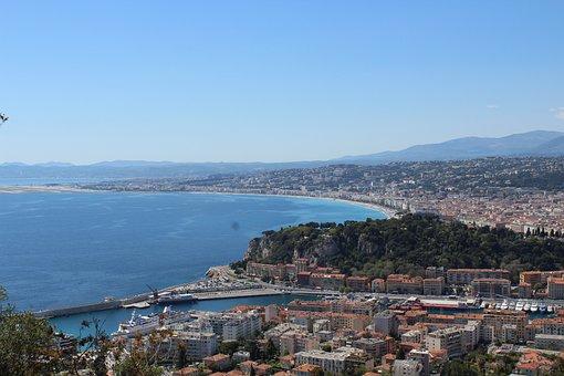 Nice, Panoramic, Mediterranean, Panorama, Light