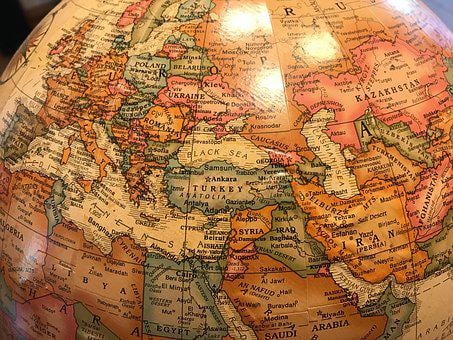 Globe, World, Europe, Turkey, Black Sea, Russia, Syria