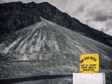 India, Road, Shield, Message, Nubra, Ladakh, Transport