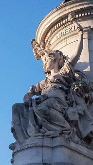 Paris, Place, Republic, Fountain, Sculpture, Statue