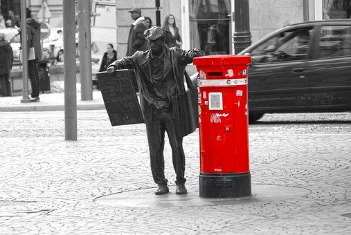 Mailbox, Post, Street, Submit