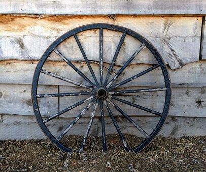 Wagon Wheel, Western, Rustic, Wood, West
