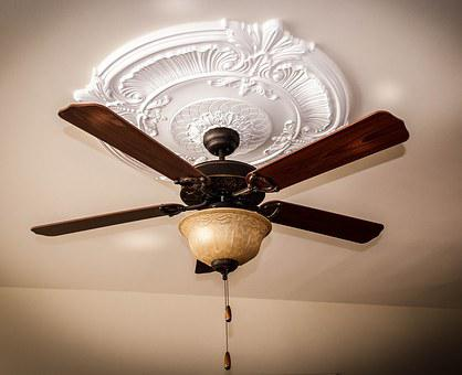Ceiling Fan, Ceiling Medallion, Ceiling Light, Blades
