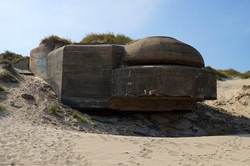 Bunker, France, Normandy, Bray Dunes, Dunkirk