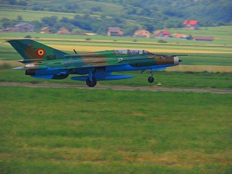 Mig 21 Lancer, Plane, Rocket, Camouflage, Army