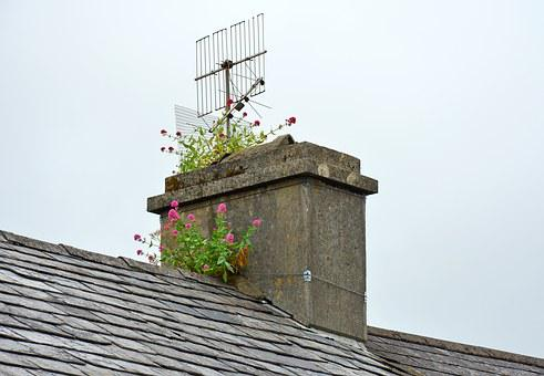 Chimney, Fireplace, Ireland, Schull, Unused