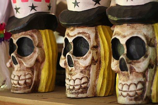 Skulls, Uncle Sam Skull, Halloween, Death