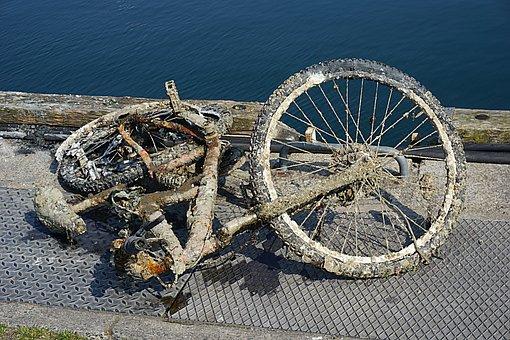 Bike, Draft, Two Wheels, Rust, Old, Ferrraille, Metal