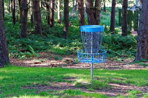 Disc Golf, Frisbee Game, Frisbee, Forest, Netting