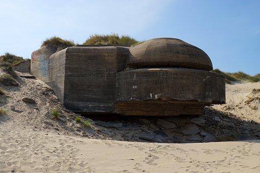 Bunker, France, Normandy, Bray Dunes, Dunkirk