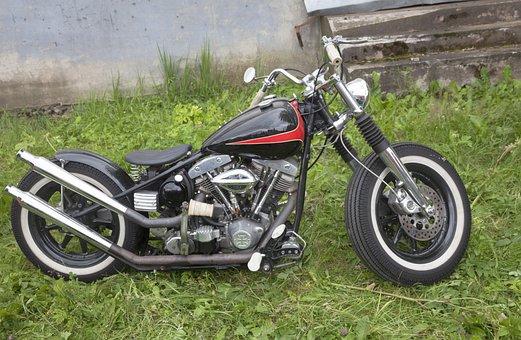 Motorcycle, Bike, Ring, Seat, Tank, Handlebars