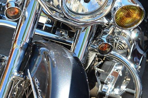 Chrome, Harley Davidson, Davidson, Motorcycle, Harley